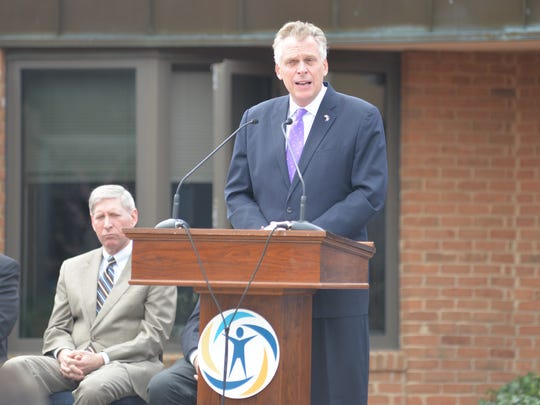Gov. Terry McAuliffe addresses recent graduates of