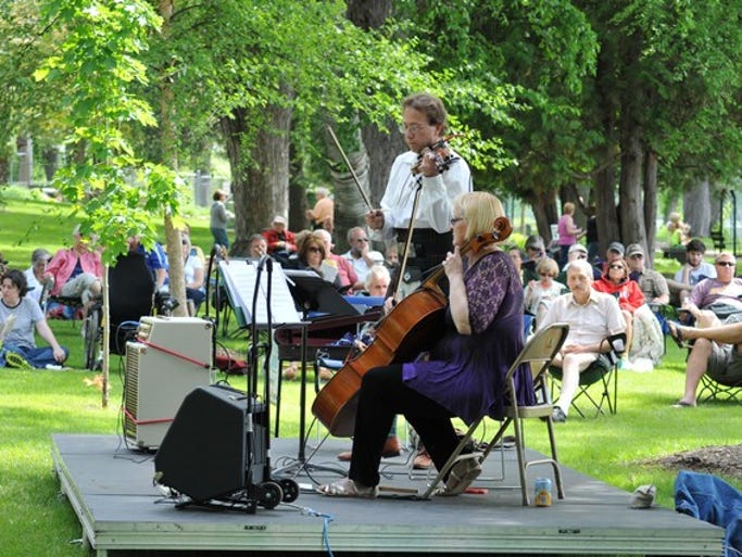 Imagine Haggis takes the stage for the first Music in the Gardens event on Sunday, June 8, at Munsinger Gardens in St. Cloud.