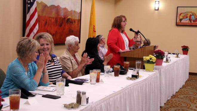 Sherra Hester,  executive director at Southeast NM Community Action Corporation, thanked senior volunteers on Thursday.