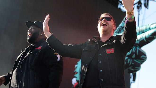 Run the Jewels perform on the Coachella Stage during the first Saturday of the Coachella Valley Music and Arts Festival on Saturday,  April 16, 2016 in Indio.