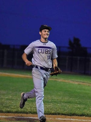 Jordan Barrett and the rest of the Nevada baseball and softball players are all smiles after Nevada officially approved a high school baseball and softball season for 2020. The first practices were held Monday and games will start on June 15. Nevada Journal file photo by Joe Randleman.