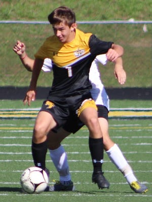 Keyser's Alec Stanislawczyk led the Golden Tornado with a four-goal performance against Berkeley Springs. Tribune photo by Chapin Jewell