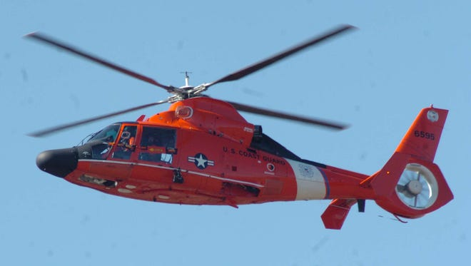 Coast Guard helicopter.