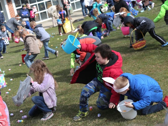 Easter egg hunts are popular annual events throughout the region, such as this one held last year at Richland Carrousel Park when more than 2,000 eggs were given out.