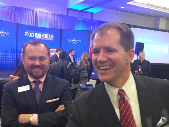 Texas Supreme Court Justice Don Willett mingles with