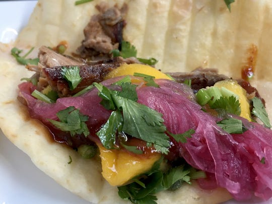 The Squeals on Wheels brisket taco.