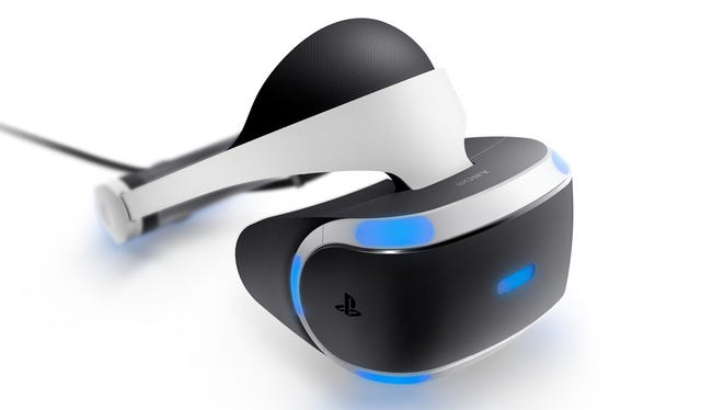 PlayStation VR headset, compatible with PlayStation 4 and PlayStation 4 Pro.