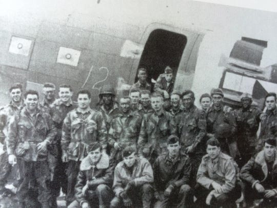 "The 1st Battalion, 505th PIR Pathfinder Team, shortly before boarding a plane for Normandy, June 5, 1944. Sheboygan native Fredrick ""Fritz"" Zenk was a sergeant in the division."