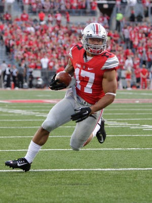 Ohio State running back Jalin Marshall in a game against Hawaii Saturday afternoon.