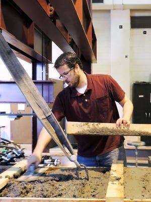 NMSU Assistant Professor of Civil Engineering Brad Weldon is working with the New Mexico Department of Transportation on the construction of the first bridge in the U.S. to be built with non-proprietary Ultra High-Performance Concrete comprised of local materials.
