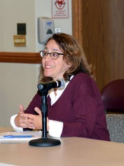 Ridgewood, NJ 12/5/16   Mary Micale, President of the Ridgewood Education Foundation discussing the REF donation in the amount of $62,500 to Ridgewood Schools.
