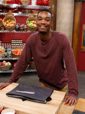 """El Pasoan Cedrick Miller poses before team selection on season 10 of the Food Network's """"Worst Cooks in America."""""""
