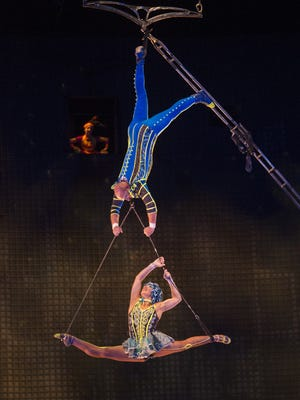 """Jennifer Trefelner enjoyed Cirque du Soleil's """"O"""" in Las Vegas so much, she intends to see Cirque's La Nouba show in Orlando (pictured) with her daughter and husband."""