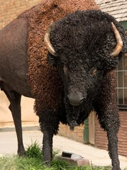 """The sculpture """"Ikicin"""" by Colorado artist Gary Monaco, currently featured in SculptureWalk in downtown Sioux Falls."""
