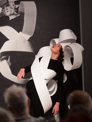 Martha McDonald performing her 2017 work Music for Modernist Shapes at Black Mountain College  Museum + Arts Center.