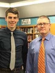 Joshua Rudd, left, and Mentor Mr. Dissinger.