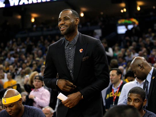 Cleveland Cavaliers forward LeBron James missed his