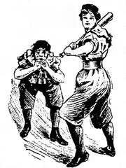 Bloomer Girls cartoon from the 1906 The Lima News.