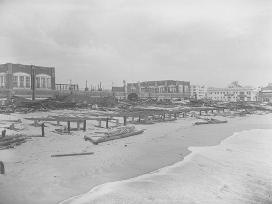 The 8th Avenue Pavilion in Asbury Park after the hurricane