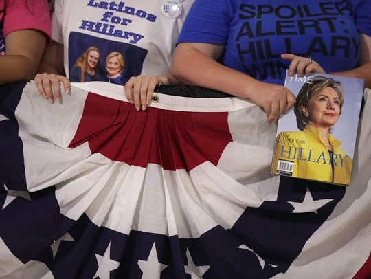 Hillary Clinton supporters in July 2016 in Annandale,