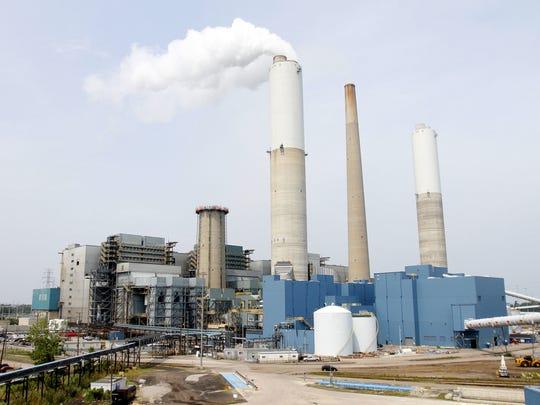 DTE Energy's coal-fired Monroe Power Plant in Monroe