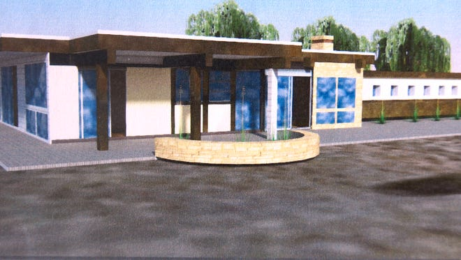 An artist's rendition of what the Tu Casa facility might look like was distributed at Thursday's Grant County Board of County Commissioners meeting. The architect is Kevin Robinson of Architecture/Workshop in Silver City.