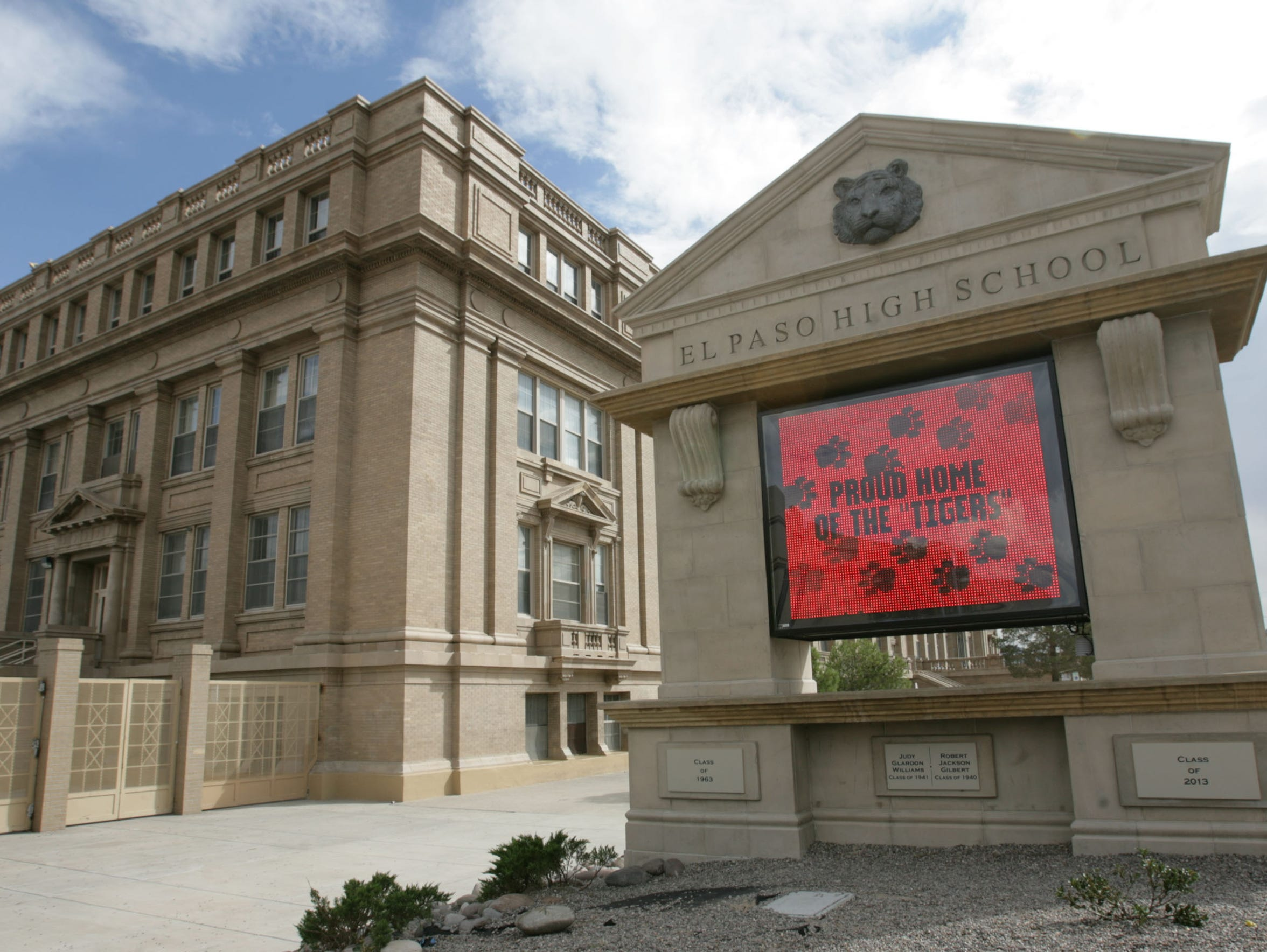 El Paso High School will benefit from $20 million in