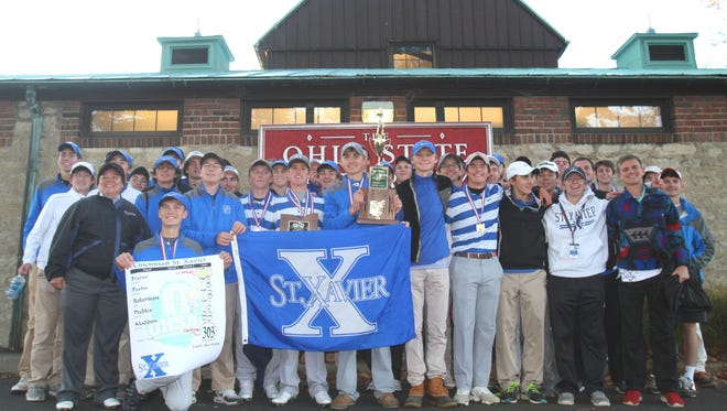 St. Xavier won back-to-back Division I state golf titles on Oct. 22 at Ohio State University Golf Course. It's the fifth state title in school history.