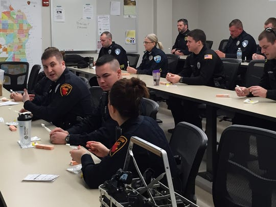 Law enforcement officers receive training in the use