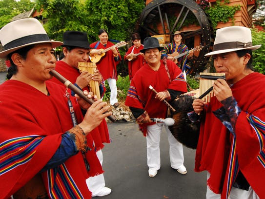 Musicians from Ecuador perform at Silver Dollar City's