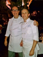 Le Vallauris' chef Jean-Paul Lair (left) and pastry