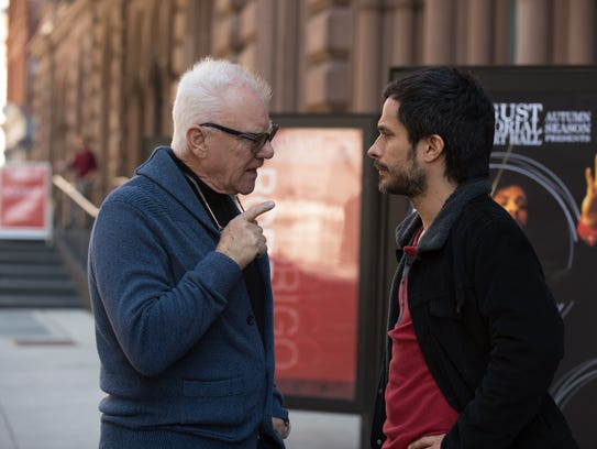 Malcolm McDowell and Gael Garcia Bernal in Amazon's