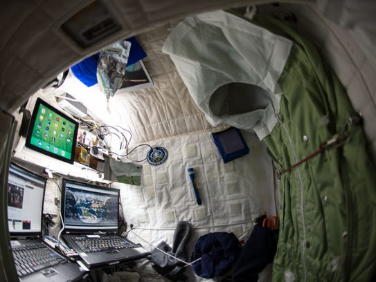 This April 24, 2015 photo provided by NASA shows astronaut