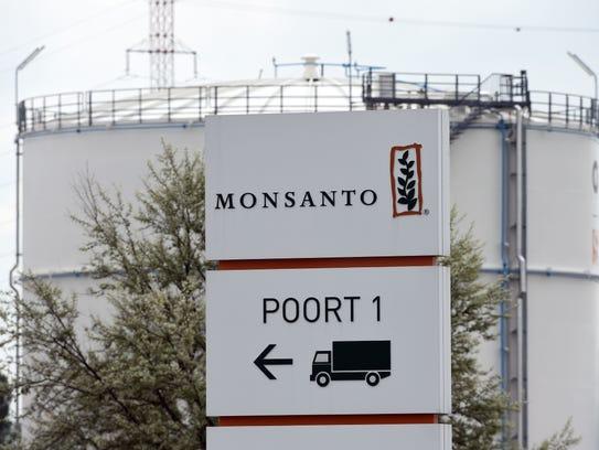 File photo taken in 2016 shows the Monsanto logo in
