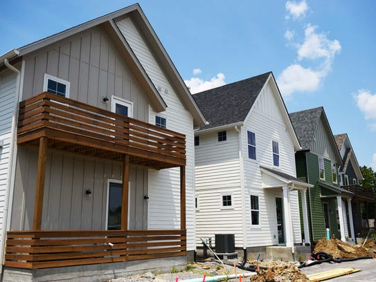 Homes in the Treaty Oaks subdivision, starting at $259,000,