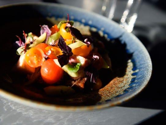 Tomato salad at Josephine restaurant on the 12 South