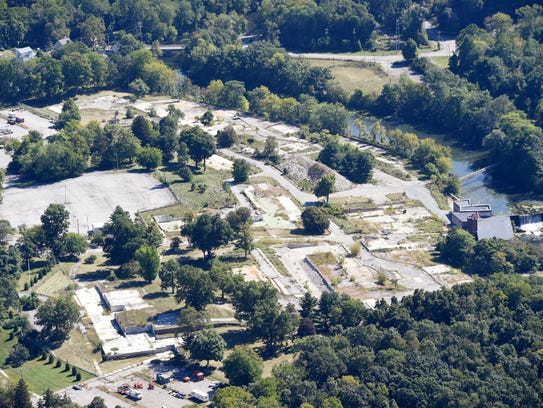 An aerial photo of the former Texaco research facility