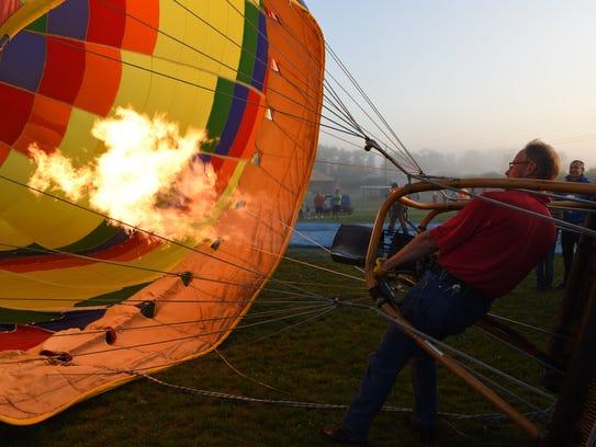 Dwight Cramer, pilot of the hot-air balloon Paradise