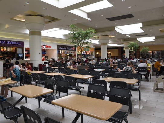 The food court at the Poughkeepsie Galleria