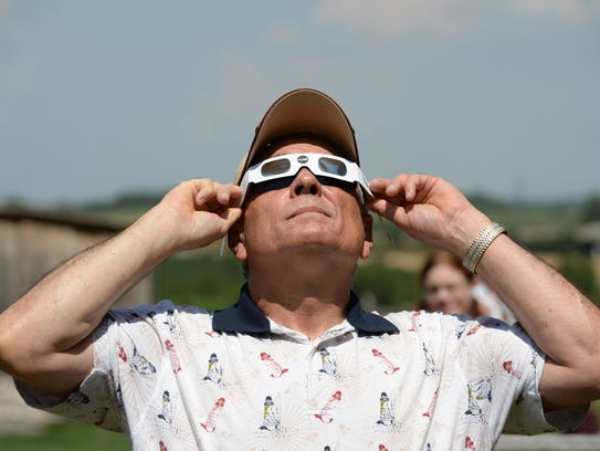 Dave Rusk of Winchester watches the progress of Monday's
