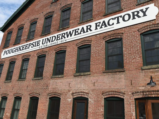 An exterior view of the Poughkeepsie Underwear Factory.