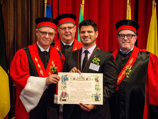 Chris DeCicco was knighted in a grand ceremony in Brussels,