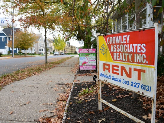 A home in Rehoboth Beach,  for rent on Tuesday, Nov. 7, 2017.