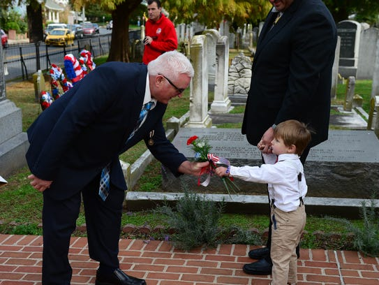 The Delaware Society of the Sons of the American Revolution, Caesar Rodney Chapter, holds a grave marking and memorial service for local Revolutionary War patriots on Saturday, Nov. 4, at the Lewes Presbyterian Cemetery.