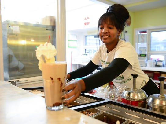 Kiera Victor, Soda Jerk at Dumser's Dairyland Restaurant,