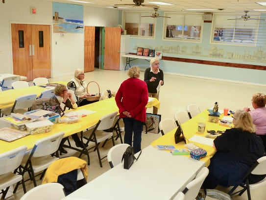 Members of the Cape Henlopen Senior Center take part in a craft class on Tuesday, Nov. 7.