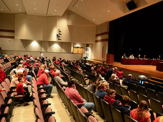 Indian River School District parents came out in protest
