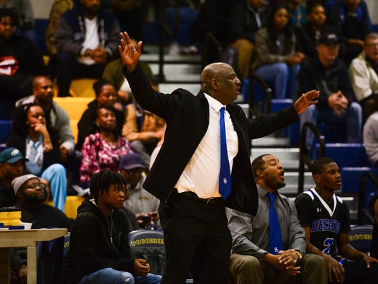 Stephen Decatur Head Coach Bryon Johnson during the
