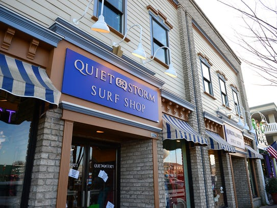 Quiet Storm Surf Shop in downtown Rehoboth Beach.