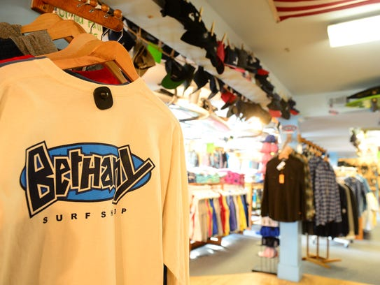 Bethany Surf Shop in downtown Bethany Beach.